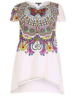 Samya Short Sleeve Print Tunic