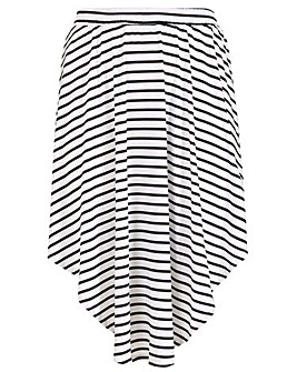 Samya Stripe Print Skirt