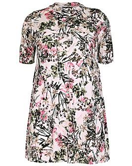 Amy K Floral roll neck dress