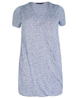 Amy K Blue long line wrap over tunic