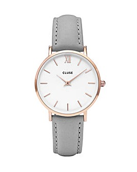CLUSE Ladies Minuit Leather Strap Watch