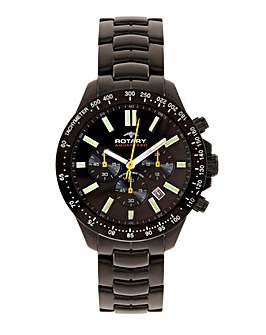 Rotary Aquaspeed Black Sports Watch