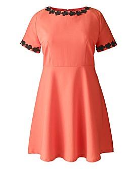 AX Paris Coral Daisy Collar Dress