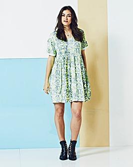 Simply Be Neon Print Swing Dress