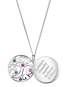 Personalised Family Tree Pendant