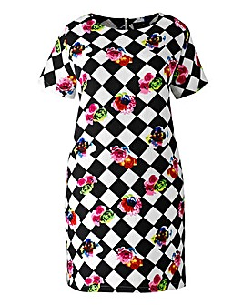 AX Paris Diamond Floral Shift Dress