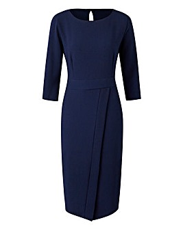 Closet Navy Midi Dress