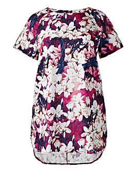 Alice And You Plum Orchid Print Top