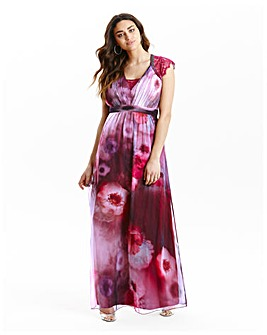 Little Mistress Watercolour Maxi Dress