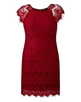 Ax Paris Wine Lace Dress