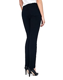 NYDJ Sheri Skinny Black Overdye Jeans