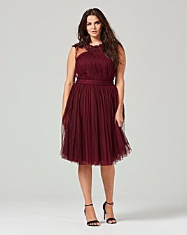 Little Mistress Detail Neck Prom Dress