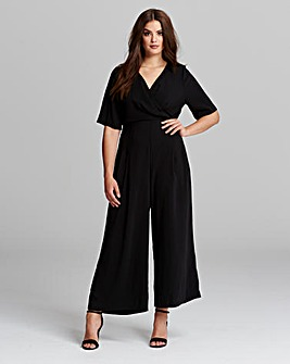 Truly You Wrap Tie Jumpsuit