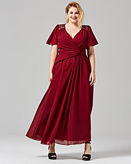 Scarlett & Jo Maxi Chiffon Dress