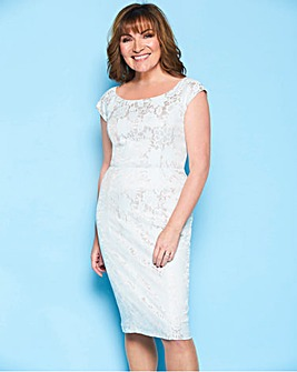 Lorraine Kelly Bonded Lace Bardot Dress
