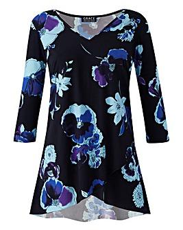 Grace Tulip Hem Tunic in Floral Print