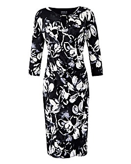 Grace Wrap Dress With Bar Neck Trim