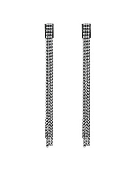 Jon Richard Diamante Chain Earring