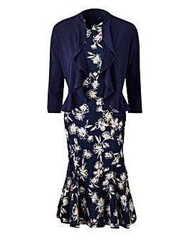 Print Dress & Shrug L45