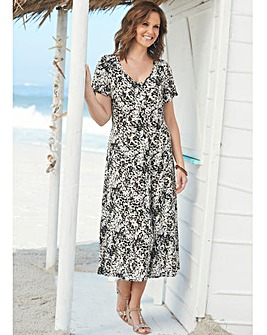 Print Crinkle Dress