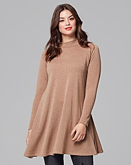 Ax Paris Camel High Neck Top
