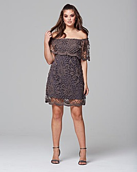 AX Paris Crochet Lace Bardot Dress