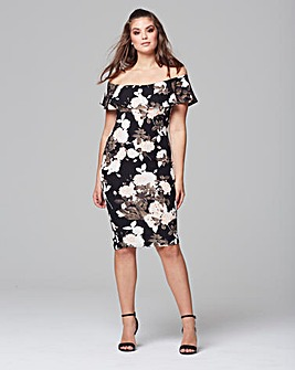 AX Paris Floral Bardot Midi Dress