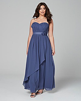Little Mistress Bandeau Maxi Dress
