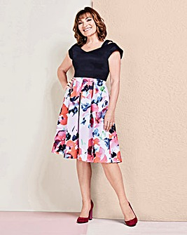 Lorraine Kelly Scuba Fit & Flare Dress