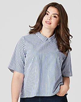 Junarose Blue Striped Shirt