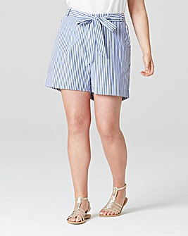 Junarose Blue Striped Shorts