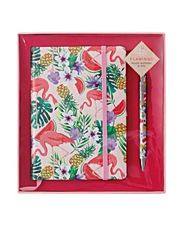 Flamingo Notepad and Pen Gift Set