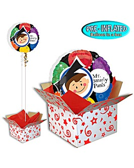 Mr Smarty Pants Foil Balloon In A Box