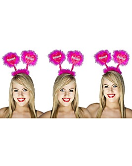 Hen Party Pink/Silver Bridesmaid Boppers