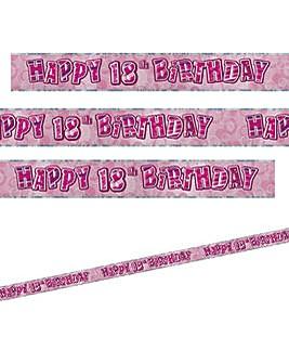 Glitz Birthday Prism Foil Banner Age 18