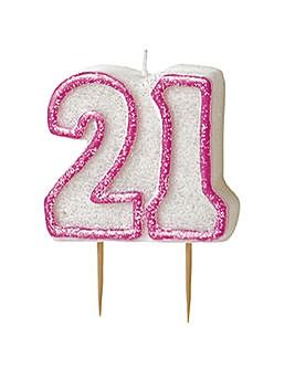 Glitz Number Candle Age 21