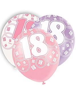 "Glitz 12"" Birthday Balloons Age 18 x 6"