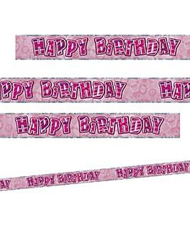 Glitz Birthday Prism Foil Banner