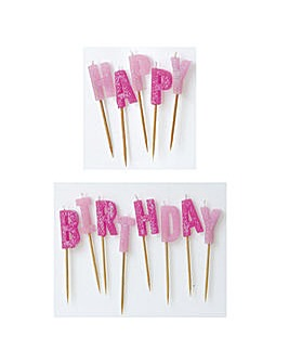 Glitz Happy Birthday Pick Candles