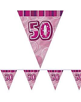 Glitz Prism Flag Banner Age 50