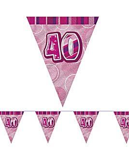 Glitz Prism Flag Banner Age 40
