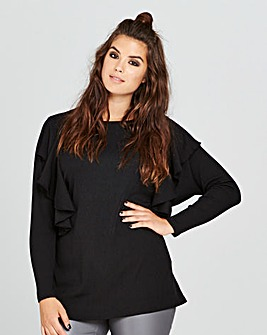 Simply Be Ruffle Long Sleeve Top