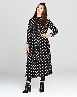 Simply Be Spot Midi Shirt