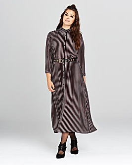 Simply Be Stripe Midi Shirt
