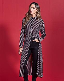 Simply Be Stripe Midi Shirt