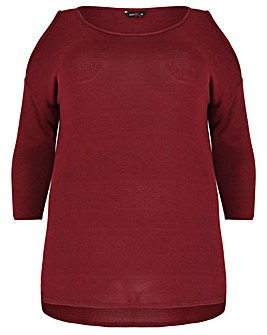 Amy K Cold Shoulder Jumper