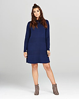 Simply Be Navy Knitted Swing Dress