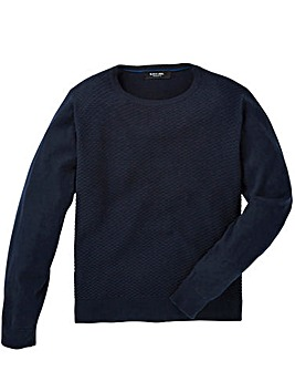 Black Label Texture Stitch Knit Regular