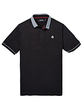 Black Label Gingham Trim Polo R