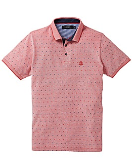 Black Label Printed Marl Pique Polo